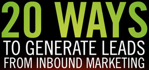 20 ways to generate leads from inbound marketing black
