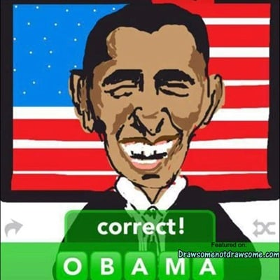 Draw Something - Obama